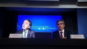 conferencia de prensa del ministro de economía nicolas dujovne